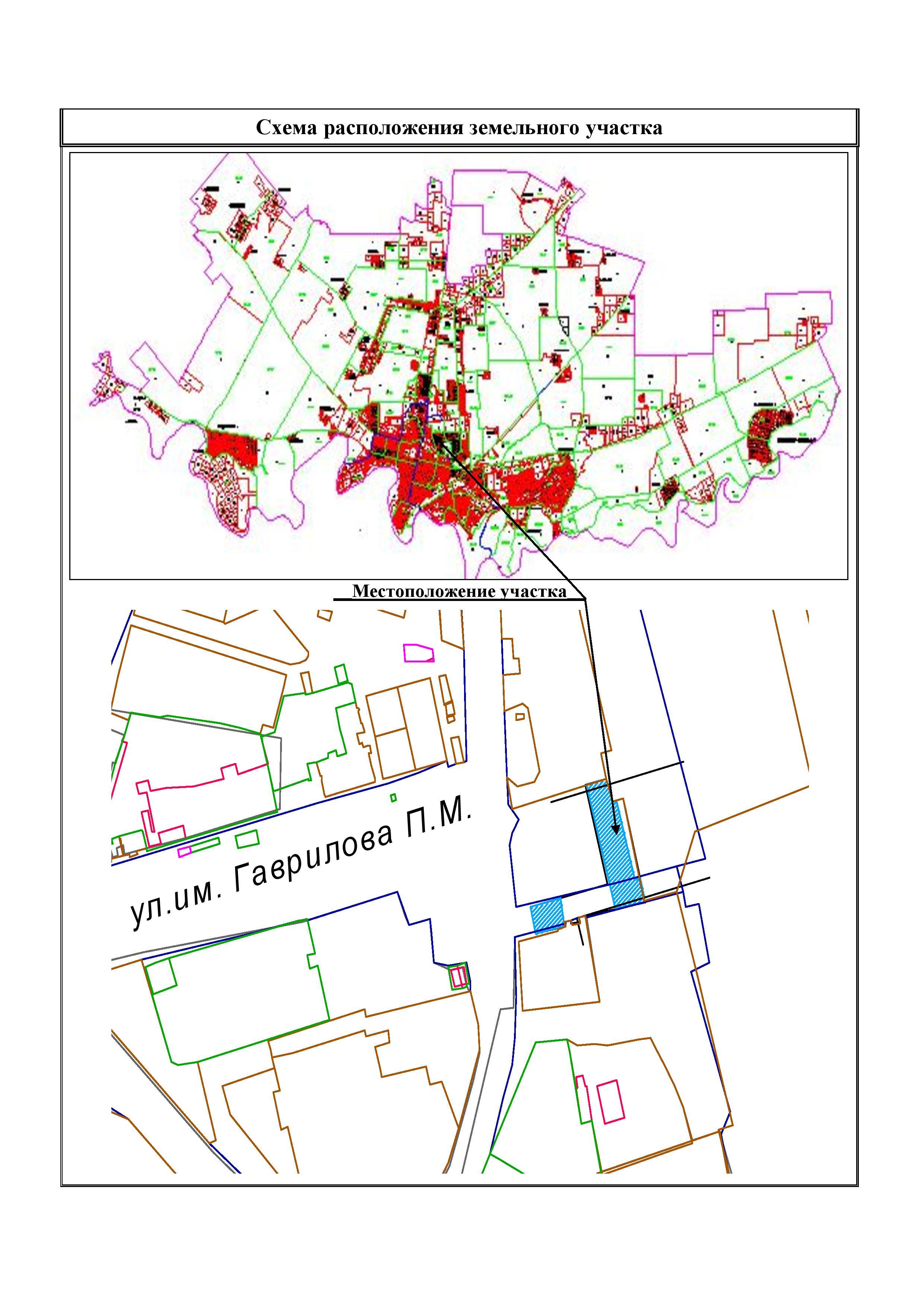 Электронная схема расположения земельного участка